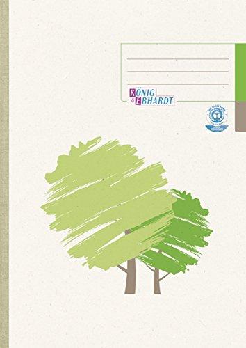 König & Ebhardt 861429201 Geschäftsbuch / Kladde (A4, kariert, 70g/m², 96 Blatt Recyclingpapier, Klebebindung)