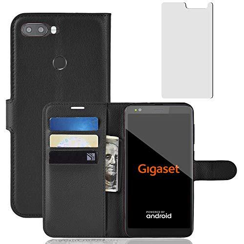 nobellgo 360° Full Case Für Gigaset GS370 / GS370 Plus Hülle + Folie Tasche Cover Schutz (Schwarz)