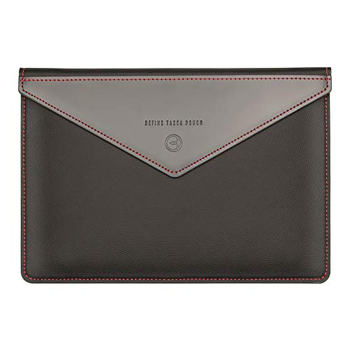 BEFINE - iPad Pro 12.9 Inch 3th Gen 2018 / MacBook Air & Pro 13 Inch 2020 - Handmade Premium Leather Pouch case,Slim,Modern and Durable Case (All Black)