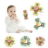 Promise Babe 3pc Suction Cup Spinner Top Toy Animal Suction Cup Turntable Spinning Windmill for Baby Early Education Bath Toys