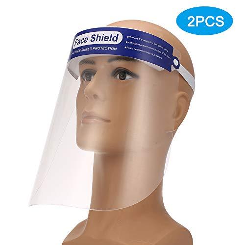 KKMOON 2PCS Protector Facial Transparente, Anti Salpicaduras de Saliva, Anti-Niebla, Anti-Escupir, Anti-Aceite