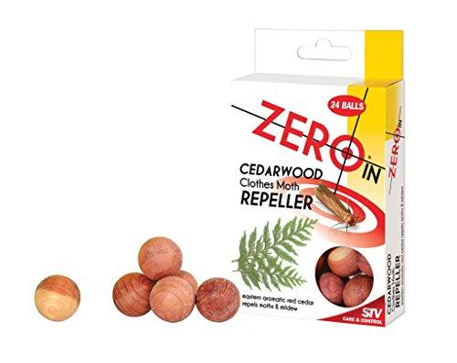 zero in Boules de bois de cèdre répulsif antimites et moisissures Lot de 24 boules anti-mites
