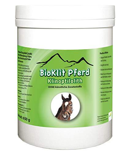 BioKlit Pferd | hoch feiner Klinoptilolith - Zeolith als Nahrungsergänzung | hoch fein | 650 g | fördert Gesundheit, Leistung und Konzentration