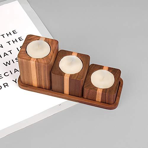 VSander Massivholz Quadratische Kombination Duftkerzenhalter Home Wohnzimmer Studie Restaurant Dekoration Holz Handwerk Geschenk Modernen Minimalistischen