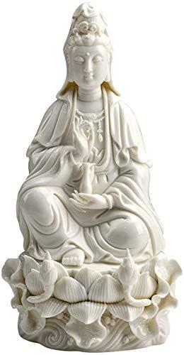 Escultura,Estatua De Buda De Guanyin, Estatua De Buda Meditando, Adornos De Feng Shui, Oficina En Casa, Mesa, Escritorio, Jardín Al Aire Libre, Patio, Decoraciones para Pati