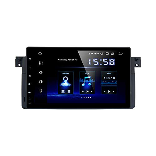 Dasaita 9' Android 10.0 Bluetooth Car Stereo for BMW E46 M3 2002 2003 2004 2005 2006 Head Unit with 4G RAM/ 64G ROM Car Radio Touch Screen GPS Navigation Dash Kit Built in DSP 15Band EQ