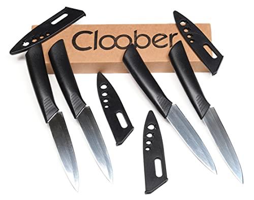 Cloober - Juego de cuchillos de cocina con funda individual, tamaño perfecto...