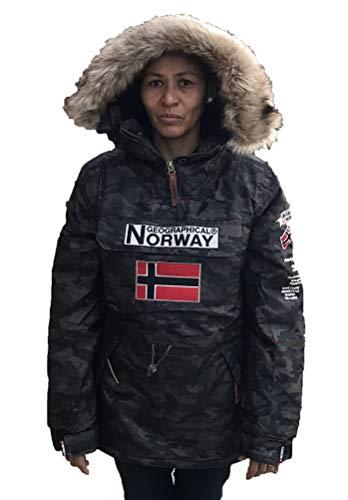 Geographical Norway Chaqueta de Esqui para la Mujer camuflage Kaki (4)