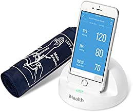 iHealth Ease Wireless Blood Pressure Monitor - Automatic Upper Arm Machine & Accurate Adjustable Digital BP Cuff Kit - BP Monitor for iOS & Android Devices with Built-in Rechargeable Battery