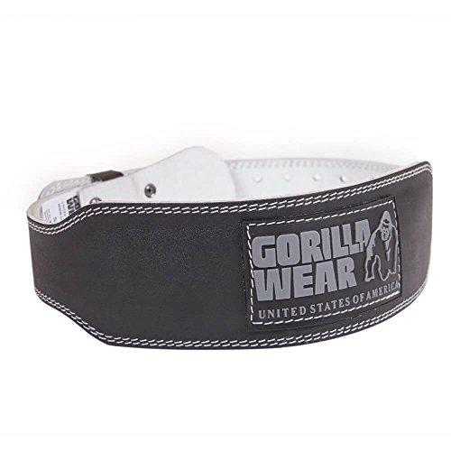 GORILLA WEAR 4 INCH Padded Leather Belt - schwarz - Bodybuilding und Fitness Gürtel für Damen und Herren, L/XL