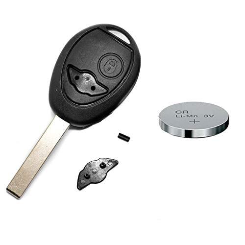 REPAIR kit di riparazione custodia radio chiave telecomando chiave telecomando auto chiave 2 pulsanti bianco + CR2032 batteria per MINI
