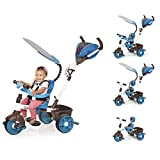 Little Tikes - 634352E4 - Tricycle - 4-en-1 Sports Edition Trike - Bleu/blanc