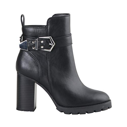 Buffalo Damen Stiefeletten Melany, Frauen Ankle Boots, Ladies feminin elegant Women's Women Woman Freizeit Stiefel Bootie,Schwarz(Black),38 EU / 5 UK