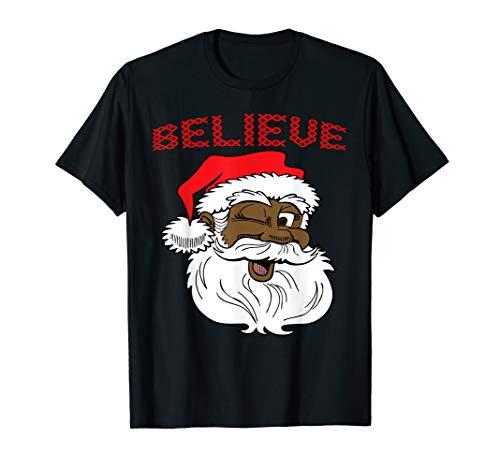 Black Believe Santa Claus Shirt - Fun African American Santa