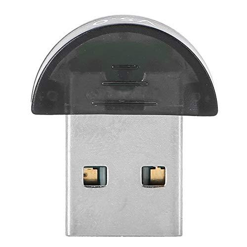 Dpofirs Mini Adaptador USB Inalámbrico Bluetooth para PC Teléfonos y Tabletas, Mini Receptor y Transmissor Bluetooth de Alta Velocidad, Compatible con Bluetooth v1.2/2.0/2.1/3.0/4.0