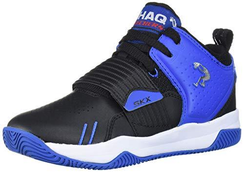 Skechers Kids Boy's POWERSHOT Sneaker, Black/Royal, 1 Medium US Little Kid