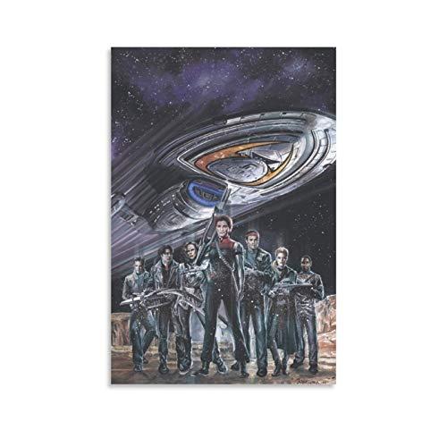 DRAGON VINES Star Trek Voyager Poster mit Spiegel und Rauch, 50 x 75 cm