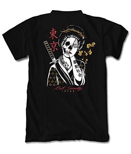 Riot Society Geisha Shame Mens T-Shirt - Black, Small