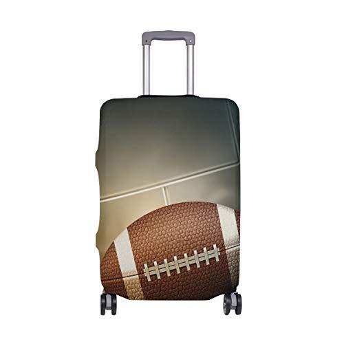Orediy Elastische Reisegepäckhülle mit American Football Print Trolley Case Protector (ohne Koffer) S M L XL Größe, Multi (Mehrfarbig) - suitcasecover