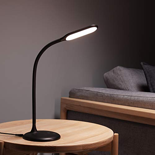 Cordless Lamp Battery Operated Gladle LED Desk Lamp, Rechargeable Table Light for Office, Dimmable Eye-Caring Reading Lamp with Timer, Adjustable Gooseneck Touch Lamp, USB Charging Port, 2700-6500K