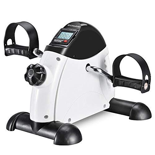 DDT Mini-Heimtrainer,Mit Multifunktions-Display Crosstrainer, Hometrainer Widerstand Pedaltrainer Für Muskelaufbau,Armtrainer Und Beintrainer
