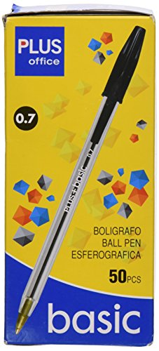 Plus Office + Basic – Bolígrafo, 50 unidades, negro