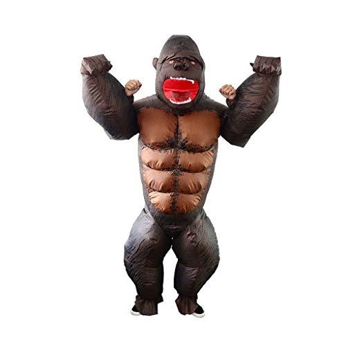 Aufblasbares Halloween King Kong Aufblasbare Kleidung Fun Leistung Annual Meeting Maskerade-Party Kleidung Bar Mall Event-Styling-Party Kinderbekleidung Maskenspiel