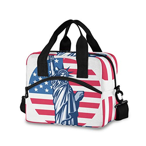 American Flag Statue Of Liberty Lunch Bag