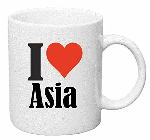 Reifen-Markt Kaffeetasse I Love Asia Keramik Höhe 9,5cm ? 8cm in Weiß