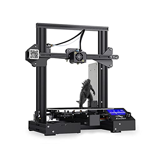 Creality Ender 3 Impresora 3D, FDM Impresora 3D Tamaño de Impresión 220 x 220 x 250 mm Con Base de impresión magnética, Reanudación de Impresión