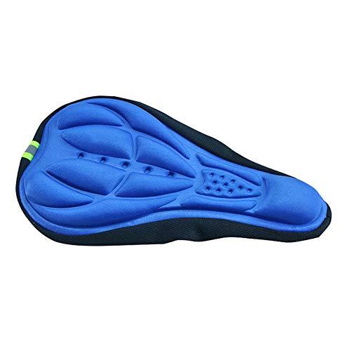 Yadlan Cómodo cojín Funda para Asiento de sillín Bicicletas para Bicicletas Asientos de Almohadilla de Gel Extra Suave(Color:Azul)