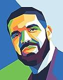 Drake Poster – modernes geometrisches Portrait –
