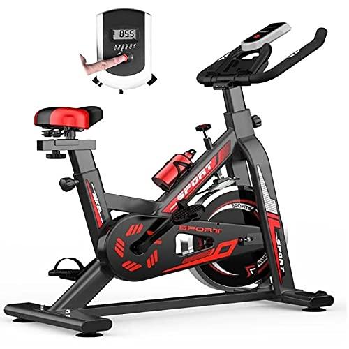 WOERD Bici Estatica Spinning Bicicleta estática de Interior con Monitor, Asiento Ajustable y Manillares Bicicleta para Ciclismo para el Hogar Entrenamiento Cardio