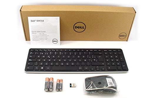 DELL KM714 Wireless Cordless Keyboard & WM514 Mouse Set SPANISH Layout