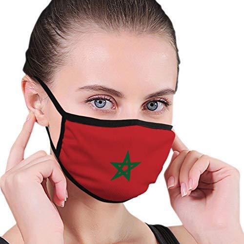 Komfortabel Schutzhülle,Staubschutz Gesichtsschutz,Unisex Mehrweg Gesichts,Flagge Von Marokko Gesichtsschal,17.5x12cm