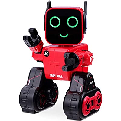 Costzon Wireless Remote Control Robot, RC Robot Toy Senses Gesture, Sings, Dances, Talks, and Teaches Science Robot Smart for Kids