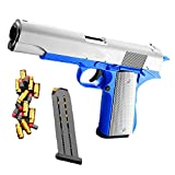 LQLQ Classic Colt 1911 Toy Gun with Soft Bullets and Ejecting Magazine, Shell Ejection Soft Bullet Toy Gun, Backyard Blasters Colt 1911 Toy Gun, 1: 1 Size Boys Toy Guns with Silencer