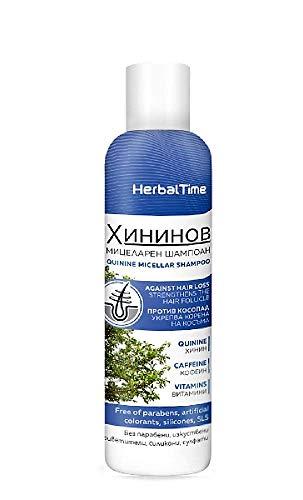 Herbal Time Champú Micelar Capilar de Quinina Tratamiento Anticaida de Cabello Sin Parabenos, Siliconas y Sulfatos