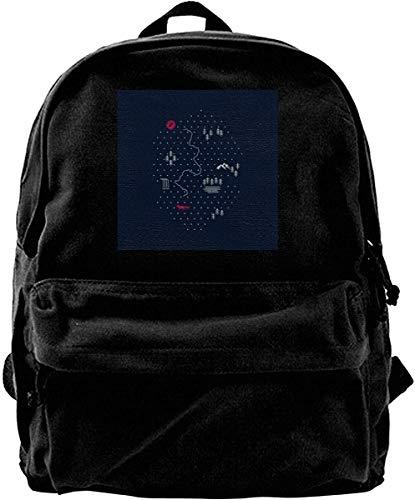 Homebe Mochila antirrobo Impermeable,Canvas Backpack Map of Nature Rucksack Gym Hiking Laptop Shoulder Bag Daypack for Men Women