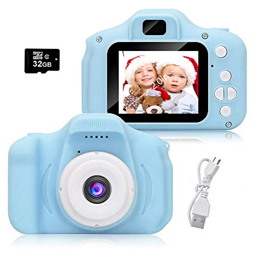 Kids Videocamera Macchina Fotocamera Bambini Fotocamera Digitale 1080P Videocamera Macchina Fotografica Bambini con 32GB Scheda SD Regalo Bambino