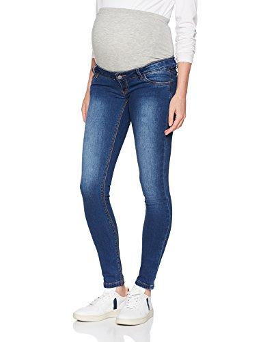 MAMALICIOUS Damen MLLOLA Slim Jeans NOOS B. Umstandshose, Blau (Blue Denim), W32/L32 (Herstellergröße:32)