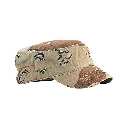 Distressed Washed Cadet Army Cap- Desert