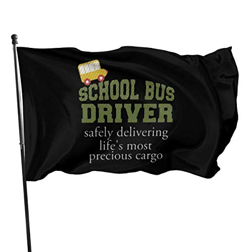 Yuanmeiju Gartenflagge Outdoor Flag 3x5 Feet School Bus Driver Decorative Flag for Backyard, Home, Party