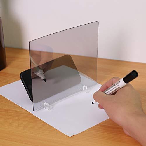Reflexión de Proyección de Espejo del Bosquejo del Teléfono Tablero de Dibujo de Plantilla para Tableta/Teléfono etc.