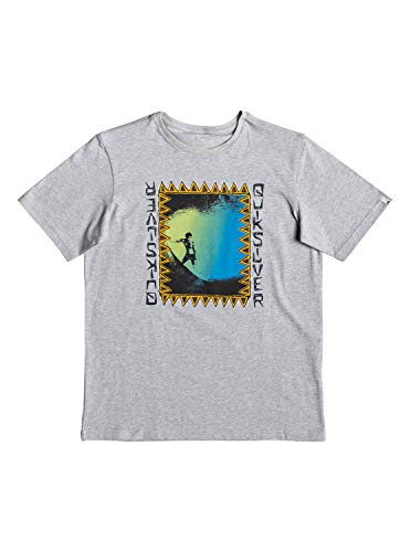 Quiksilver Ka Riding Camiseta de Manga Corta, Niños, Gris (Light Grey Heather),...