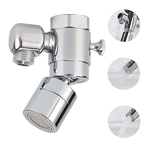 YONISO Multifunctional Kitchen Sink Aerator, Solid Brass - Polished Chrome