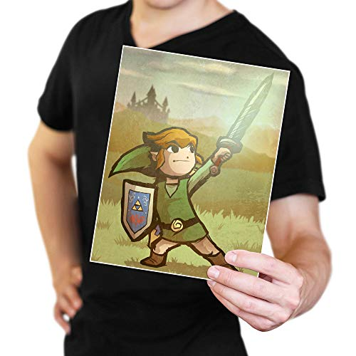 Toon Link from The Legend of Zelda: The Wind Waker Art Print - 8.5' x 11'