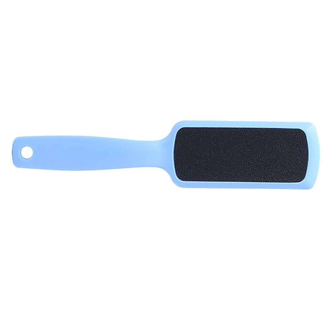 渇き不振悪行フットファイル 足ファイル 角質取り除き 角質リムーバー フットケア 全3色 - ライトブルー