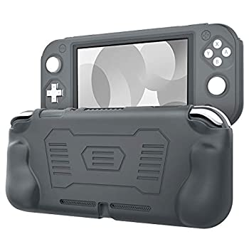 TiMOVO Silicone Cover for Nintendo Switch Lite Protective Case Anti-Slip Cover Skin with Ergonomic Grip Shock Proof Design for Nintendo Switch Lite - Gray