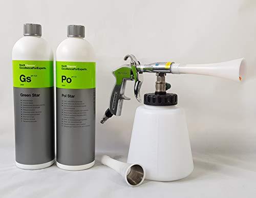 Clean 2 Blow Gun Set Reinigungspistole 1 L Koch Chemie Green Star+ 1 L Koch Chemie Polstar
